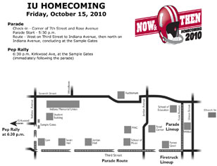 Homecoming Parade Map 2010