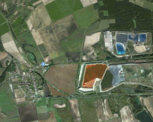 Bauxite residue pond, Hungary