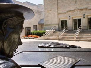 Cinema and Hoagy Statue